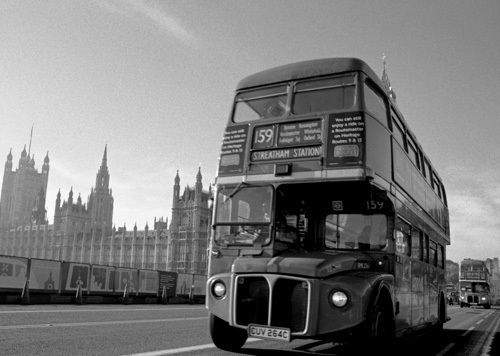 Routemaster bus farewell, Westminster Bridge - Niki Gorick Prints - Easyart.com