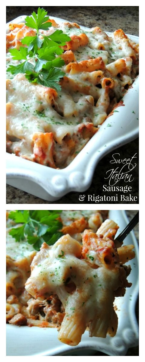 Sweet Italian Sausage & Rigatoni Bake for a Comforting Family Dinner that's Ready in No Time!