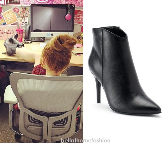 Bella Thorne wears these Kohl's Candie's® Women's Ankle Booties in an instagram photo posted at Candies offices.
