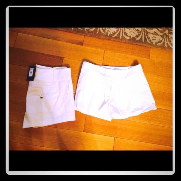 White Armani exchange shorts Brand new with tags! Pleating detail in the front super cute! Armani Exchange Shorts