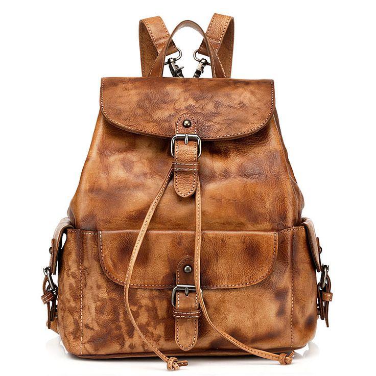 Bolsos de cuero genuino para niñas mochilas de viaje vintage outlet online [VL10336] - €137.38 : bzbolsos.com, comprar bolsos online