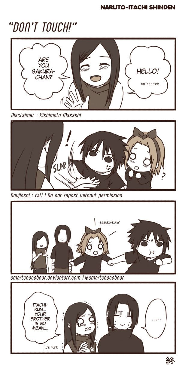 smartchocobear: Inspired by Naruto Shippuden episode 452 (Itachi Shinden). Sasu-chan, you should treat your sister in law better~ Great, now after watching Itachi Shinden I keep thinking about possibility of relationship between SasuSaku and ItaIzu. If only….