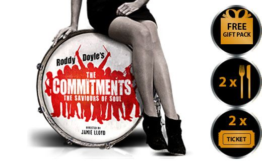 THE COMMITMENTS THEATRE VOUCHER SHOW AND DINNER FOR TWO THEATRE VOUCHER GIFT PACKAGE The Commitments is the stage adaptation of Roddy Doyle s classic