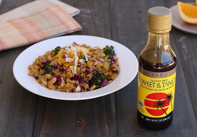 Sweet and Tangy Turmeric Quinoa Salad with San-J Tamari vegetarian gluten free