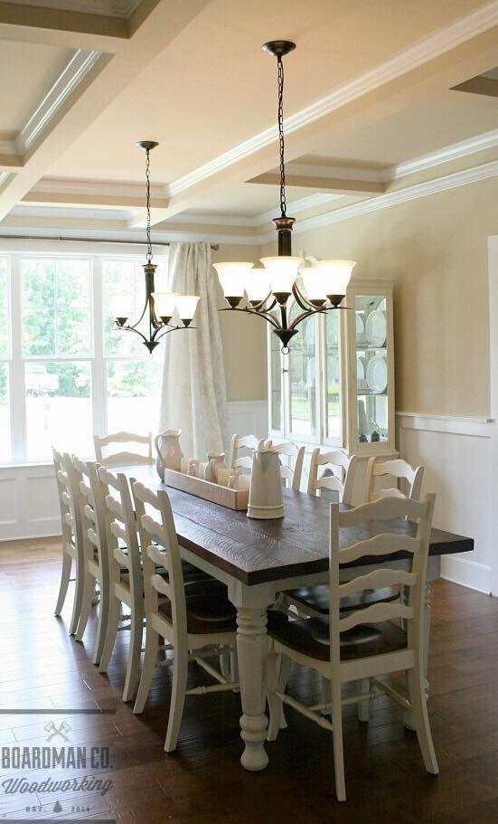 farmhouse dining table ideas for cozy rustic look farmhouse rh pinterest com