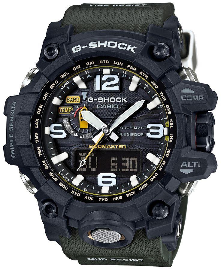 G-Shock Men's Analog-Digital Mudmaster Green Bracelet Watch 56x59mm GWG1000-1A3