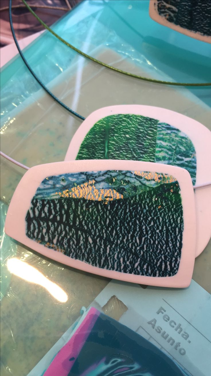Polymer clay and alcohol inks by Lou