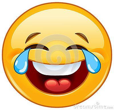 Emoticon com os rasgos da alegria
