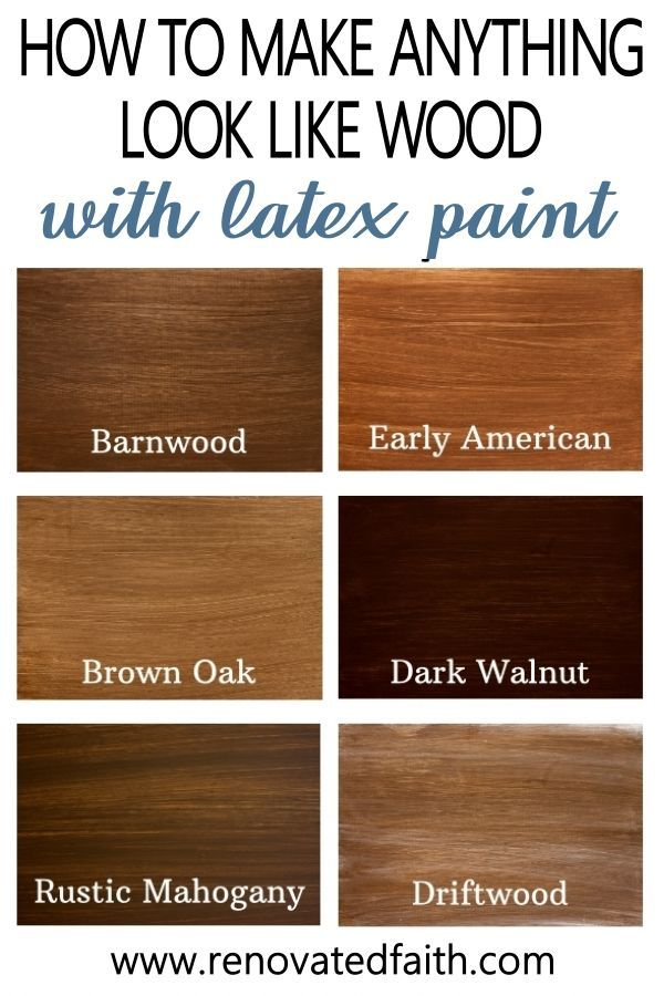 How To Apply Paint That Looks Like Stain 6 Stain Shades To Pick From Faux Wood Paint Staining Wood Staining Furniture