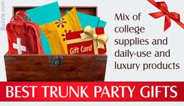Gift Ideas for a College Trunk Party: At Hand Tip These days, many… #Life_Style #college_trunk_party_invitations #general #mom #parenting