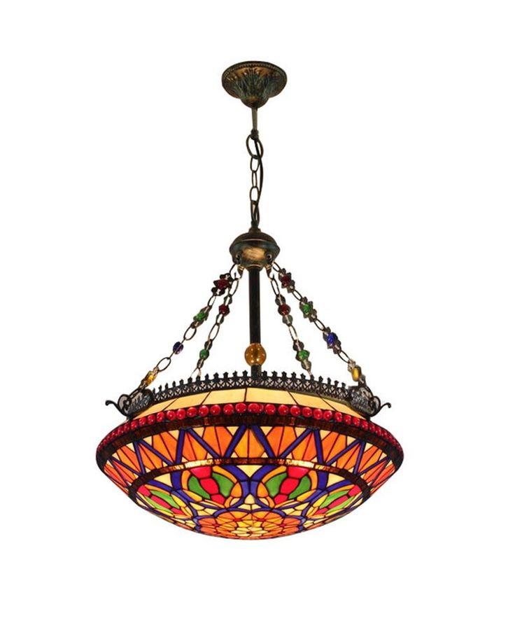 Colorful Turtle Shell Tiffany Style Pendant Chandelier Lamp