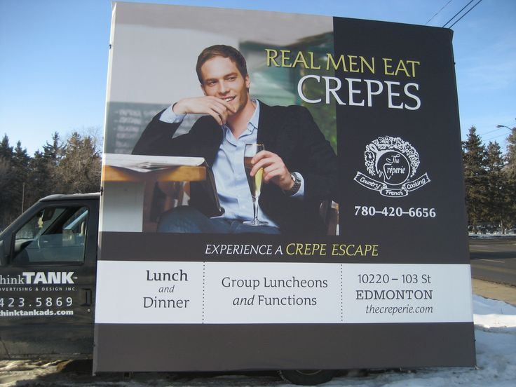 The Creperie uses style, elegance and a little bit of humour to draw in customers with this Mobile AdVan #outofhomemarketing #outdooradvertising #alternativeadvertising