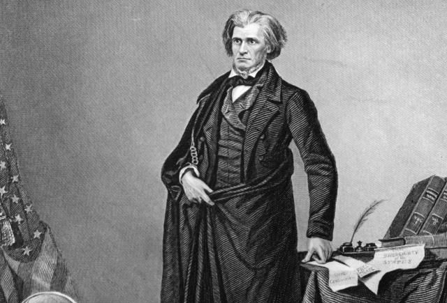 The Nullification Crisis, an early battle over the idea of secession, arose when John C. Calhoun of South Carolina resisted federal power.