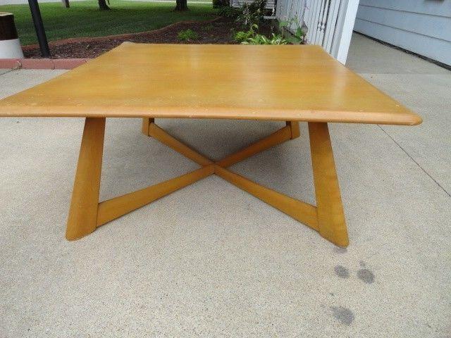 mid century modern heywood wakefield coffee table