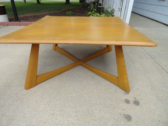 Haywood Wakefield Dining Room Table With Extensions