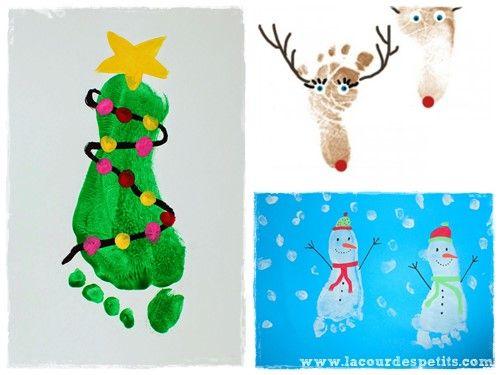14 peintures de Noël à base d'empreintes |La cour des petits