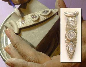 Stone Setting in Metal Clay with Lorrene Baum-Davis