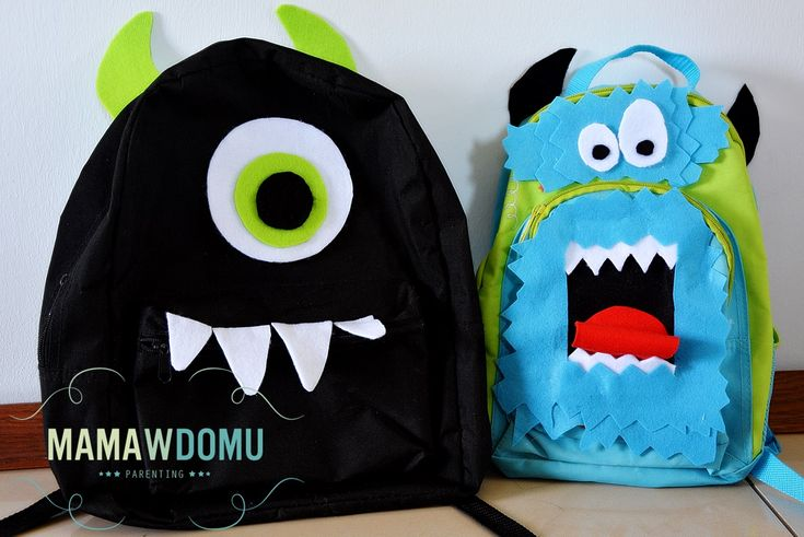 Monster bagpack / Plecak potwór #diy #handmade #school #craft