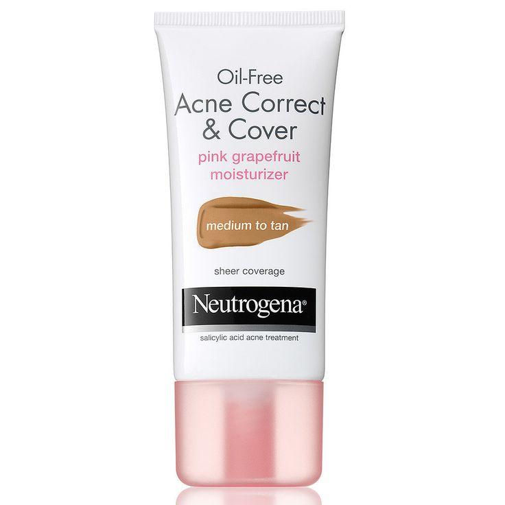Neutrogena Oil-Free Acne Correct & Cover Pink Grapefruit Moisturizer