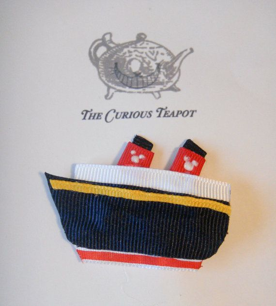 Disney Cruise Ship Ribbon Sculpture Hair Clip by maryellenaliperti, $5.00