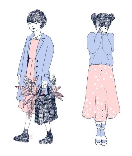 Ilustraciones que demuestran lo hermoso y sentimental que es ser mujer.