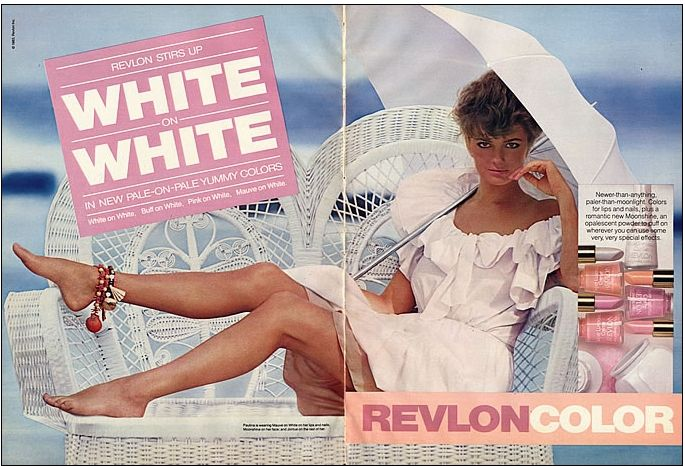Revlon White on White summer 1983-1984 - Candied Brandy nail colour was launched then