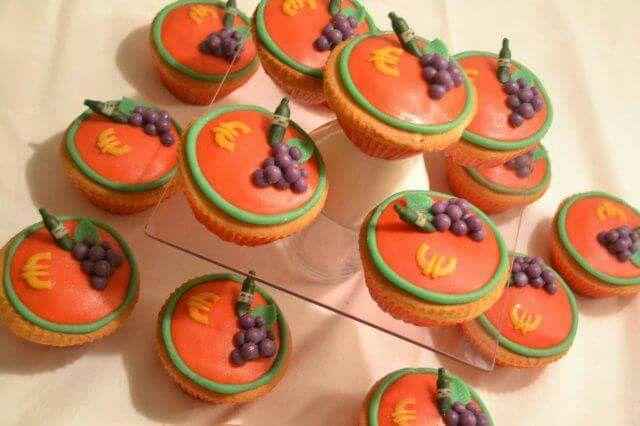 Cupcakes thema wijn