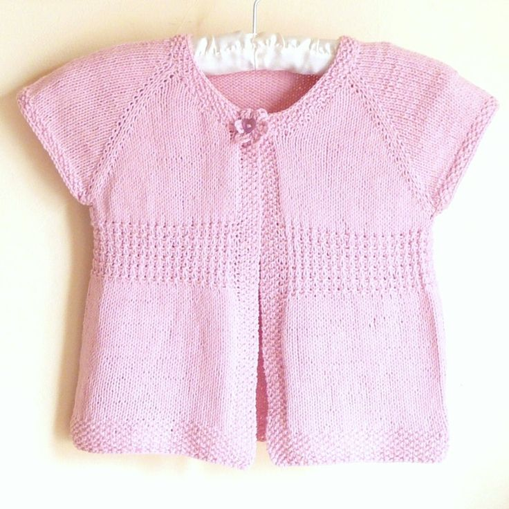 Knitting PATTERN Seamless Top Down BABY Girl CARDIGAN Vest Sweater