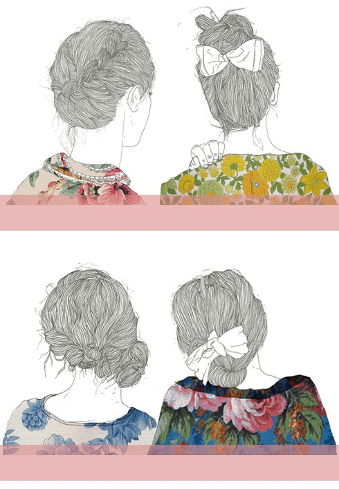 illustration by puntobipolar garcia - amazed at how each strand of hair is drawn perfectly