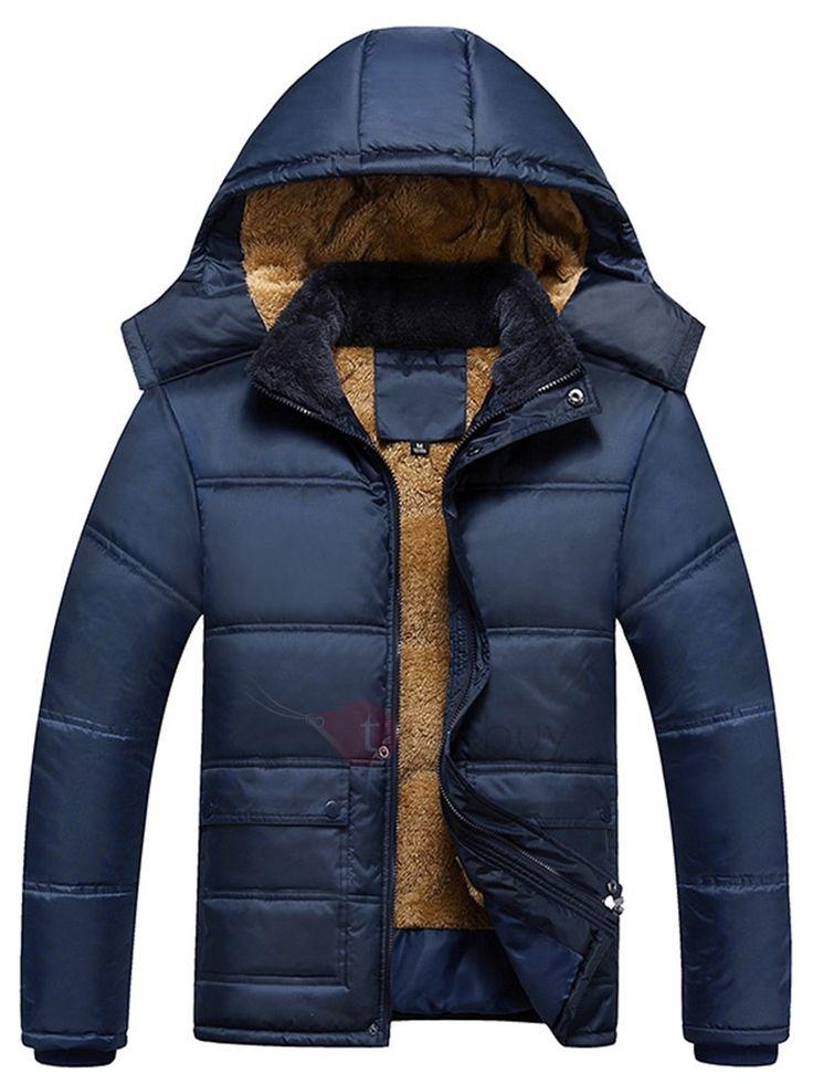 Abrigo ligero color plumones contra frío para hombres