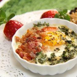 Breakfast is Beautiful Week - Day 1 - Herbed Eggs en Cocotte - thecafesucrefarine.com