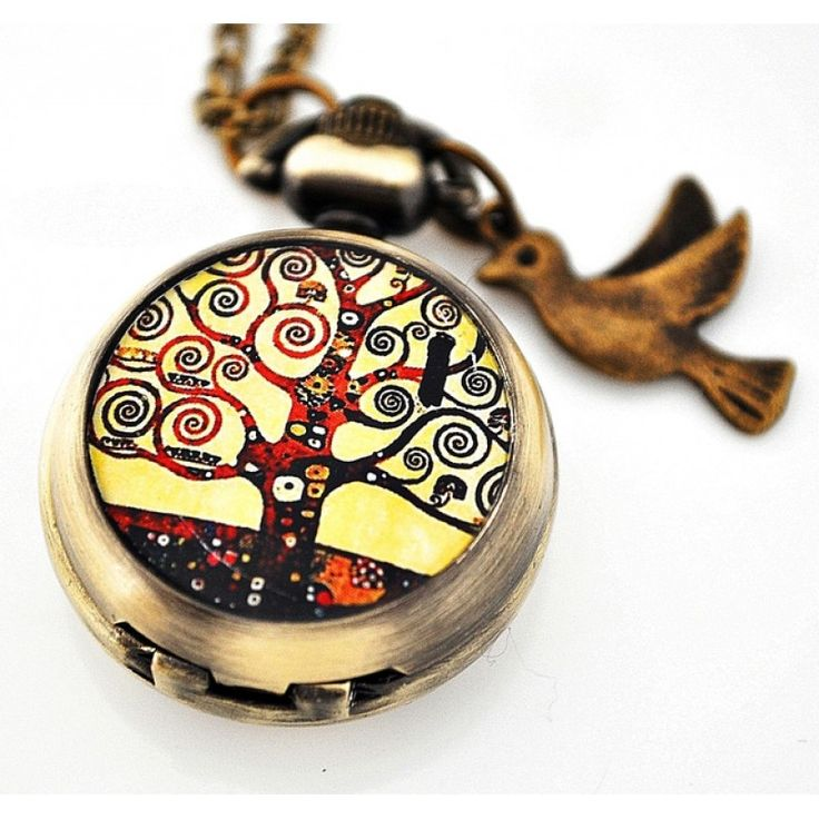 HAYAT AĞACI Gustav Klimt Saat Kolye http://ladymirage.com.tr/hayat-agaci-gustav-klimt-saat-kolye-27508277.html?search=27508277 #gustavklimt #saat #kolye #hayatağacı #bronz #kuş #takı #tasarım #elyapımı #dizayn