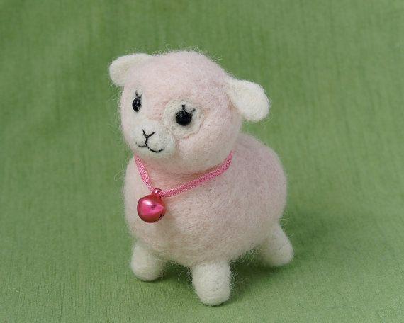 Alpaca plush  Needle felted alpaca  Llama Plush  by LilenokArt
