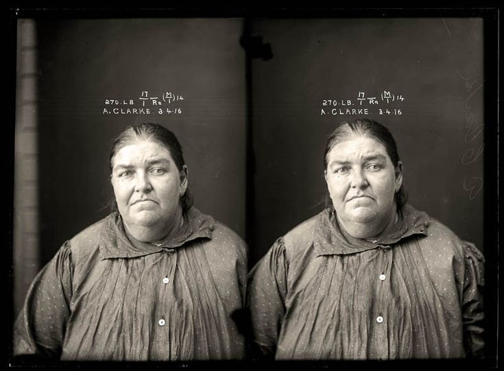 """Convicted of selling liquor without a licence. Alice Clarke was an entrepreneur who took advantage of restrictive liquor regulations, which forced pubs to close at 6pm. As a """"sly grogger"""" she sold high-priced alcohol from a private residence. Clarke's arrest came only weeks after the legislation was introduced. Aged 42"""