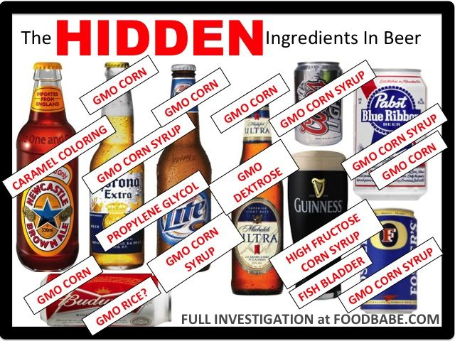"""Most commercial beer does not fit the definition of """"real food"""", with GMOs and artificial food additives and preservatives hidden in each bottle!  Learn how to find """"real"""" beer from Food Babe!"""
