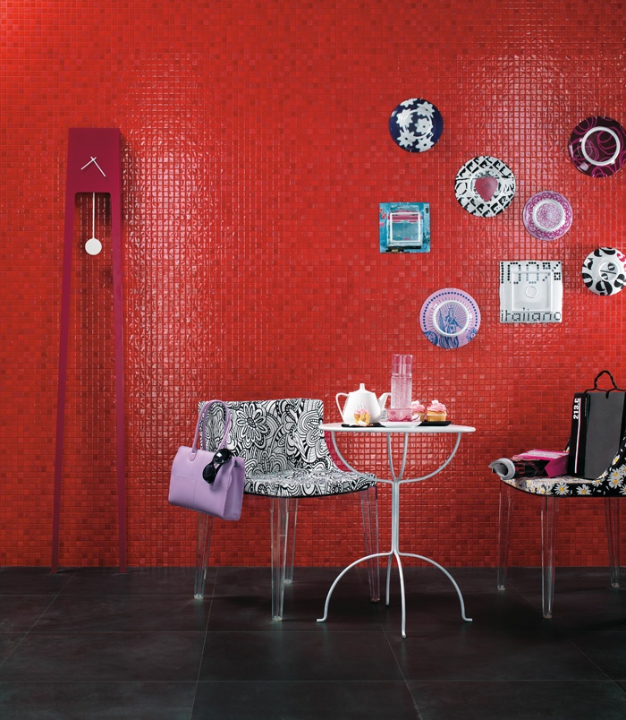Vivace red ceramic wall tiles by Atlas Concorde