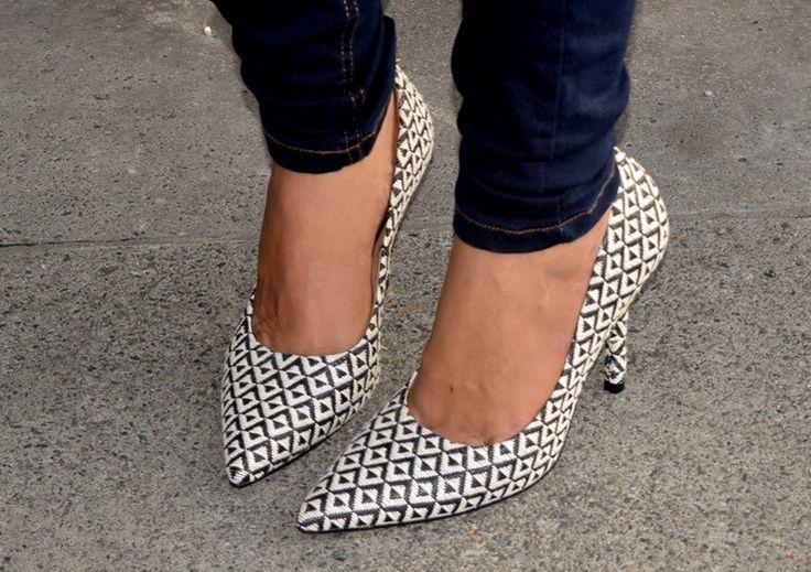 pied poule shoes