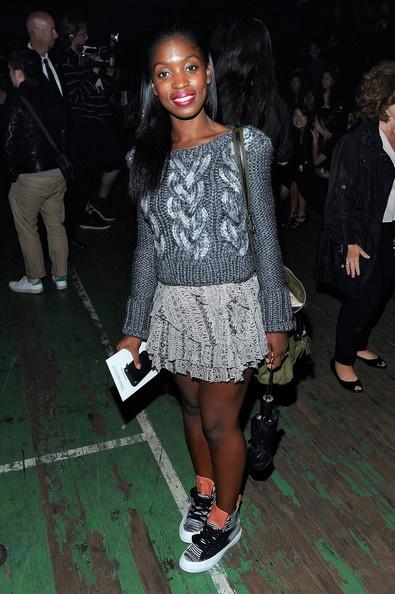 A sweater, a skirt and kicks (Rajni Jacques)
