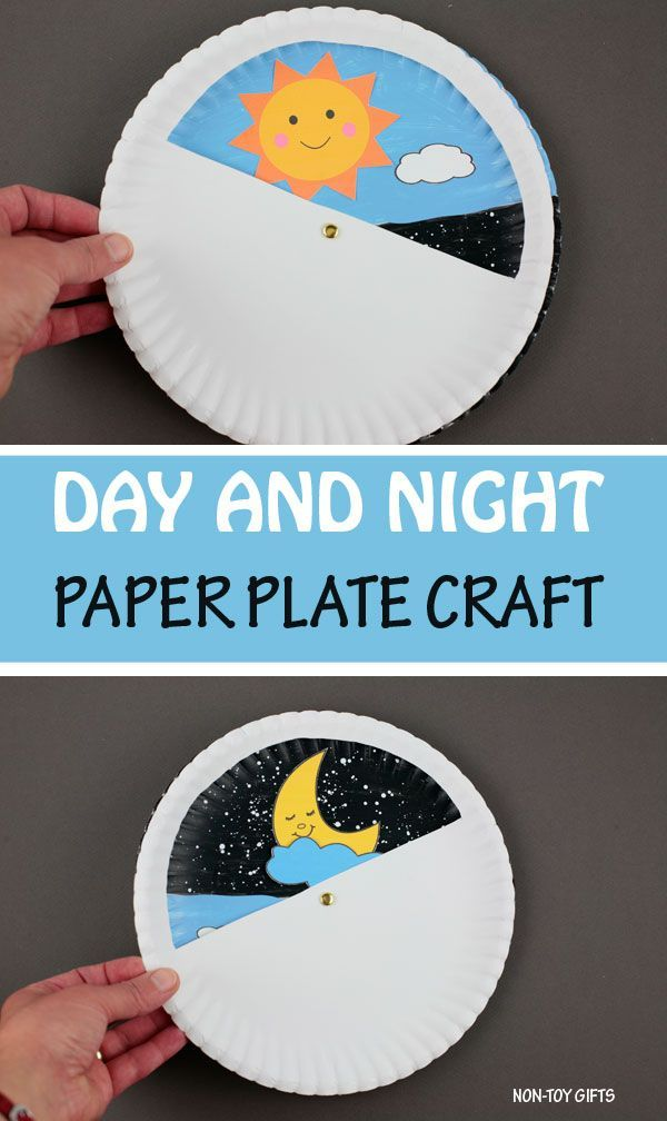 Day And Night Craft For Kids Sun And Moon Printable Preschool