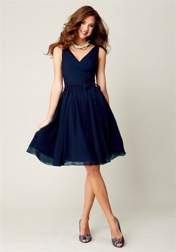 $138 Chloe Bridesmaid Dress by Kennedy Blue Bridesmaid and Party Dresses // A-Line, V-Neck with Natural Waist