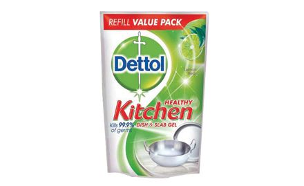 Get Dettol Soap 75g free with Dettol Dishwash Slab Gel Lemon Fresh 400 ml. Valid at all super markets