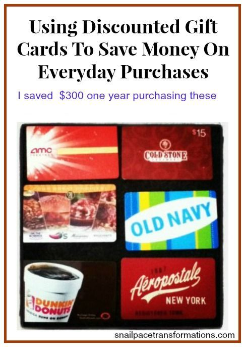 Gift cards are not just for gifts. By purchasing gift cards through discounted gift card sites you can save 5% or more (I have saved up to 15%) on your purchases. saving money tips, saving money ideas, saving, #moneytips