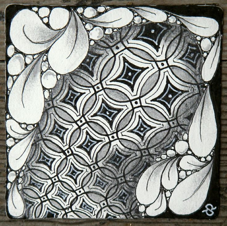 zentangle+tiles   Materials used: Zentangle tile, Sakura Pigma Micron black 01, 08 ...