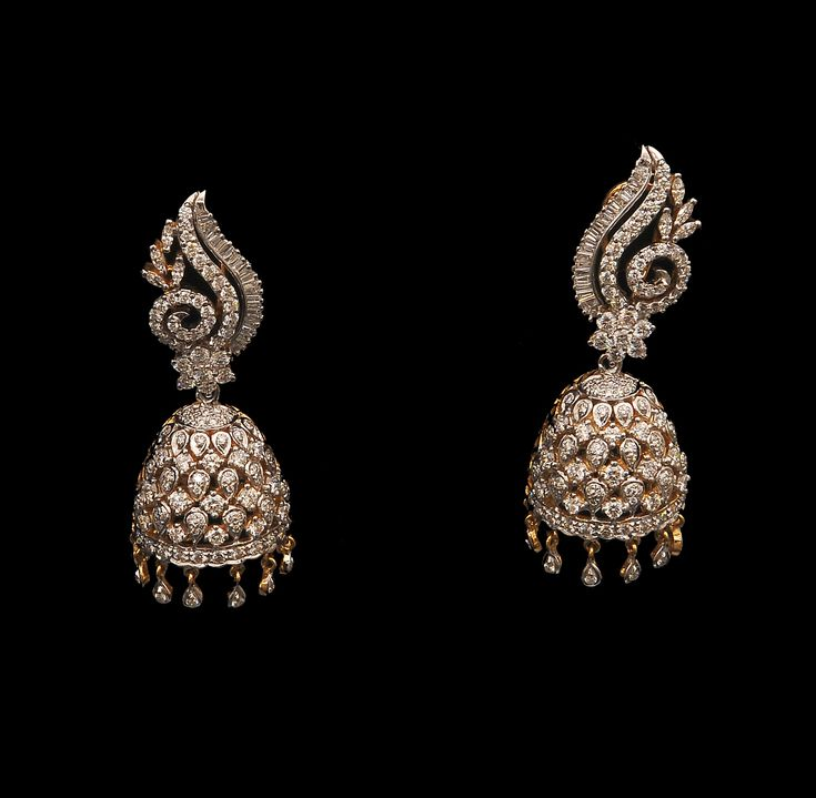 Diamond Earrings Indian Designs - Go to StellarPieces.com for even more stunning jewelry!