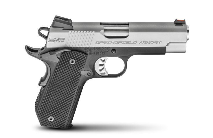 "1911 EMP® 4"" CONCEALED CARRY CONTOUR 9MM - The world's most elegant carry pistol family just added a new member. For those who emphasize extra-discreet concealed carry, we're proud to introduce the new Springfield Armory® EMP® Lightweight Champion™ with Concealed Carry Contour. Back in 2007, the original Springfield Armory® EMP® set a new bar for quality, performance, and style. Combining the near-perfect ergonomics …"