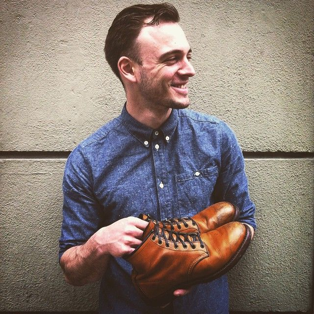 """My First Red Wing: """"I am wearing this Beckman 9013 every day for well over a year. On my lengthy trip through China he was a steady companion in every type of weather. The patina the Featherstone Chestnut Leather gets is unbeaten.""""- Mathias (Staff Red Wing Store Munich)  #redwing #beckmann #9013 #myfirstpair #firstredwing #redwings #redwingshoes #redwingheritage #boots #madeinusa #munich #minga #matias"""