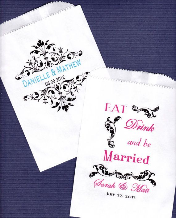 Wedding Candy Buffet Bag Favor Bags Cookie Bar by wreathartist, $45.00 thank you for  making my wedding day so sweet