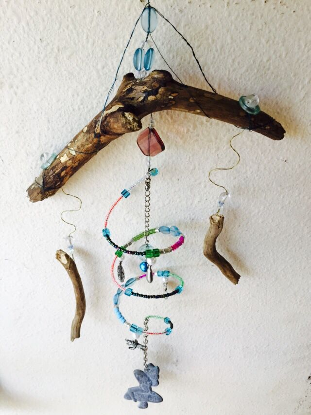 Driftwood spiral windchime made by me :)