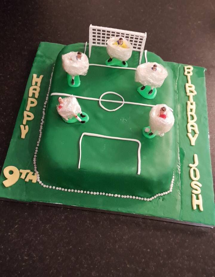 Josh 9th birthday bubble soccer / football cake