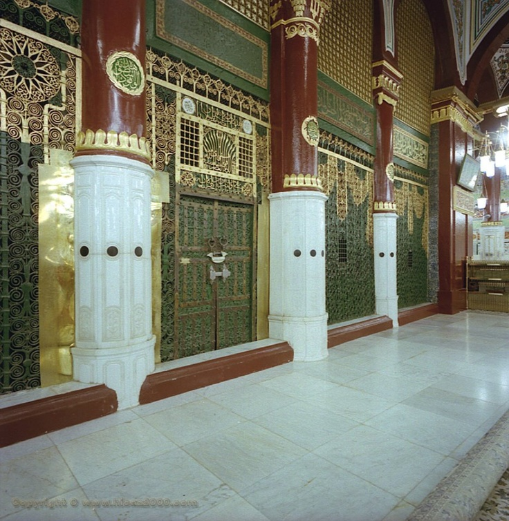 "Al-Masjid al-Nabawi ( المسجد النبوي ""Mosque of the Prophet""), is a mosque situated in the city of Medina. As the final resting place of the Islamic prophet Hazrat Muhammad(P.B.U.H), it is considered the second holiest site in Islam by Muslims (the first being the Masjid al-Haram in Mecca) and is one of the largest mosques in the world. It is the second mosque built in history."